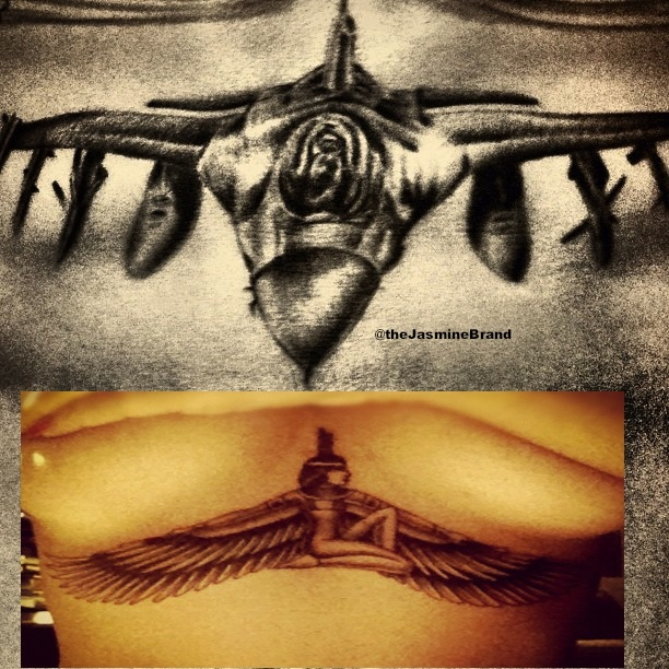 chris brown tattoo on his stomach