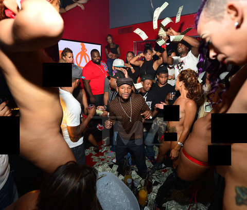Floyd Mayweather & Ray J Spend $50K At 'Diamonds of Atlanta' Strip Club