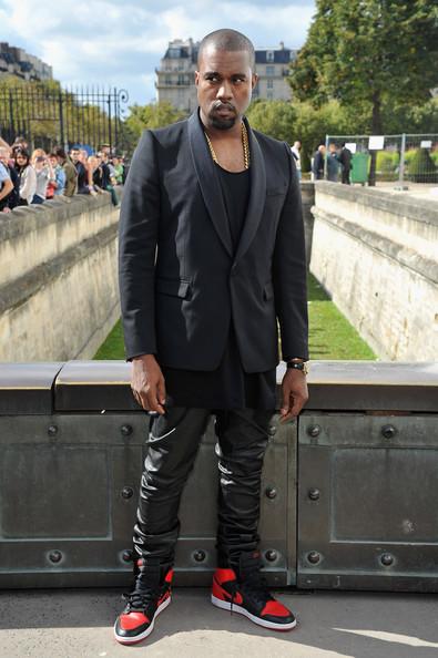 Kanye West Mean Mugs At Dior Show