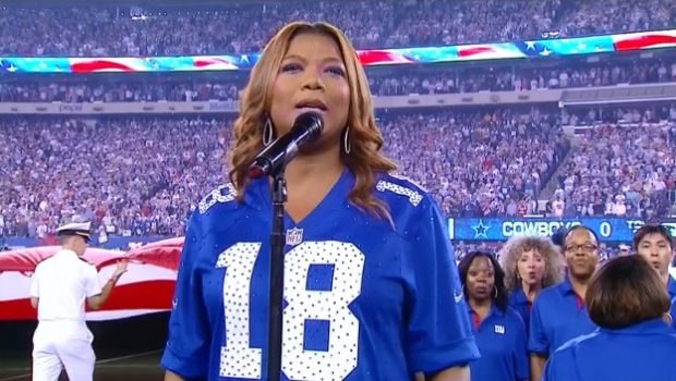 [Video] Queen Latifah Sings National Anthem + Did She Nail It?