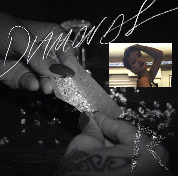 [Photo] Rihanna Rolls A Blunt Full of Bling for New 'Diamond' Single Cover
