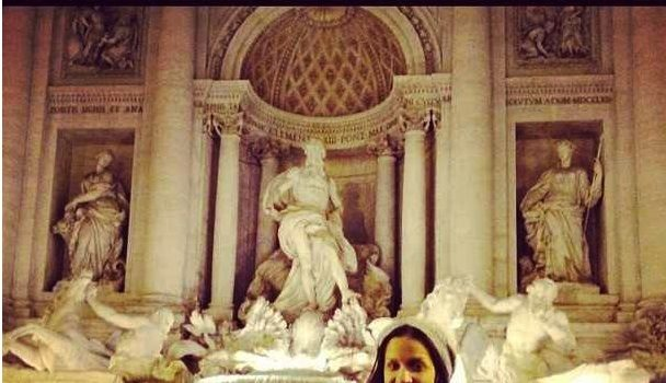 Spotted. Stalked. Scene. Rocsi Diaz Vacays In Rome