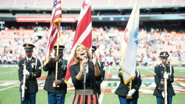 [Video] Tamar Braxton Hits DC, Sings National Anthem for AT&T Classic