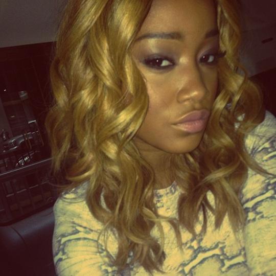 Honey blonde hair on black women