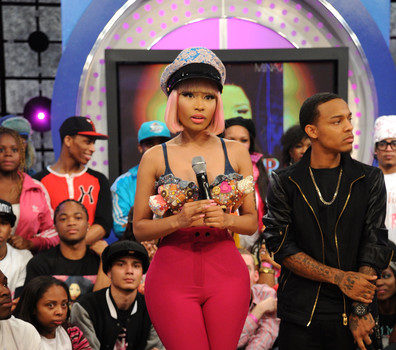 Nicki Minaj Brings High Waist & Ice Cream Cones for '106th & Park' Appearance