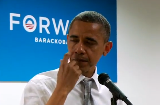 [Video] President Obama Gets Emotional, Has Tearful Moment With Volunteers