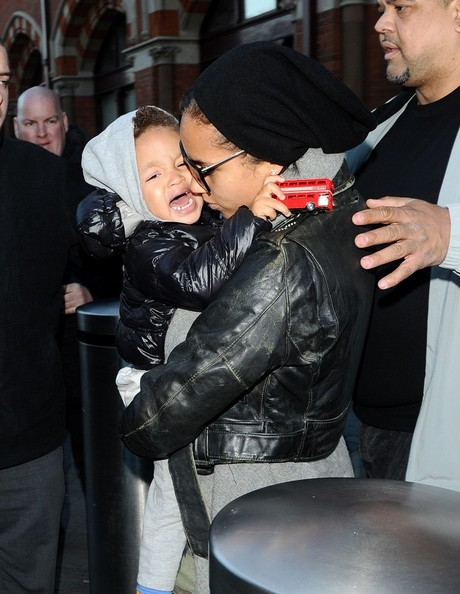 Alicia keys and her son egypt who was not feeling either the long a