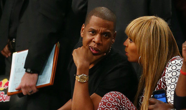 [Video] Jay-Z, Beyonce & Friends Attend First Brooklyn Home Game