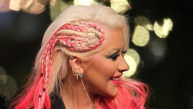 Haute or Hot A** Mess:: Christina Aguilera's Pink Cornrow'ed Hair