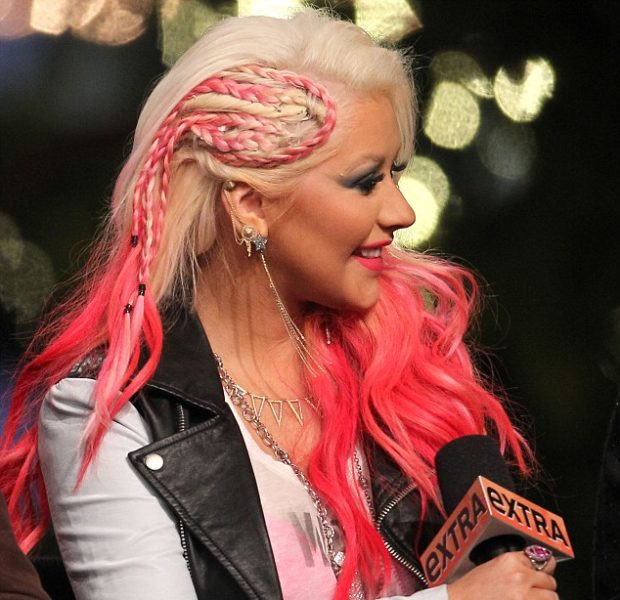 Haute or Hot A** Mess:: Christina Aguilera's Pink Cornrow'ed Hair