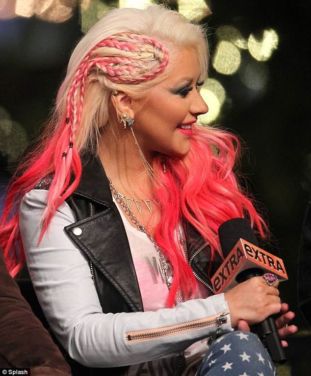 Hot pink and blonde hair