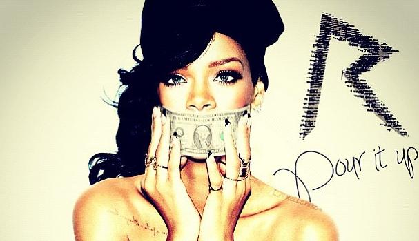 Rihanna Hints 'Pour It Up' Next Single, Celebrates #1 Album With Fancy Arm Candy
