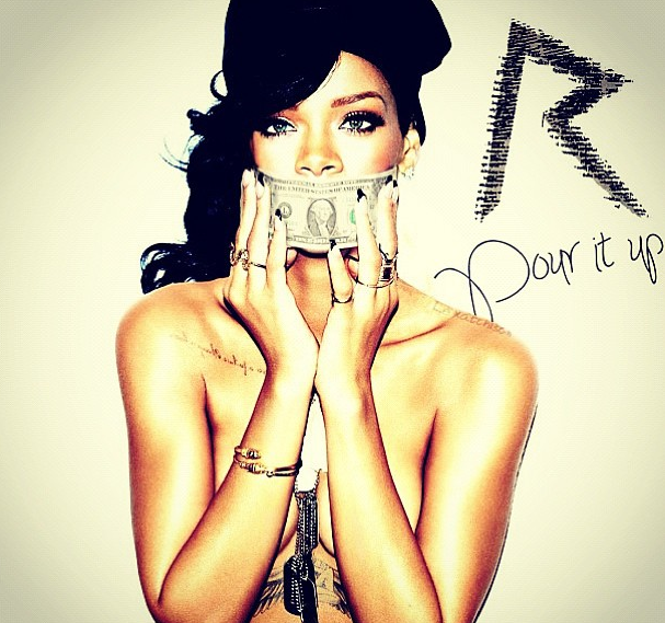 Rihanna Hints 'Pour It Up' Next Single, Celebrates #1 Album With Fancy Arm Candy