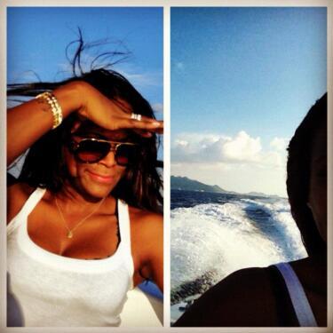 Tameka Raymond Celebrates Son Usher IV's Bday, Makes a Getaway to Anguilla
