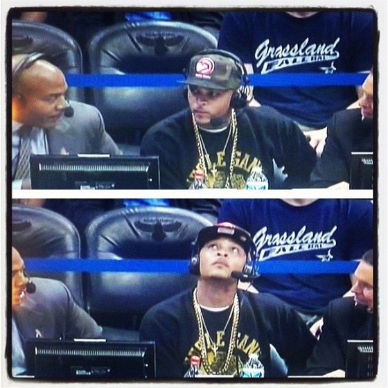 [Watch] T.I. Gives Commentary During Atlanta Hawks Game