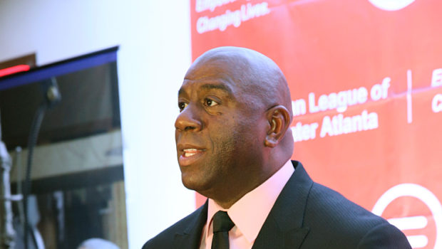 Spotted. Stalked. Scene. Magic Johnson Hits Atlanta for Equal Opportunity Day Dinner GALA Sat