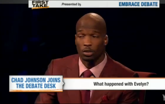 [Video] Ochocinco Talks About Evelyn Lozada With ESPN's 'First Take'