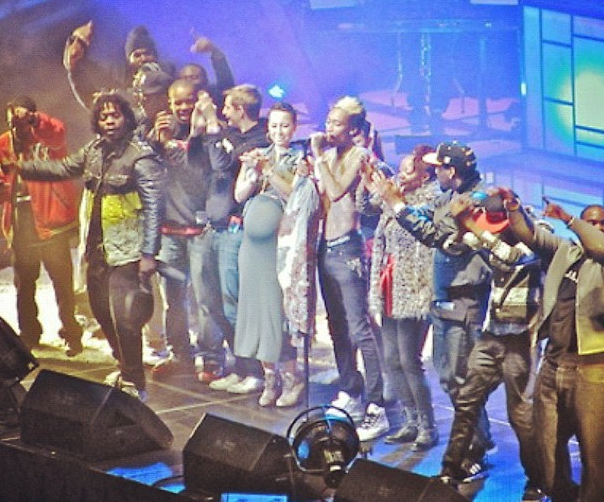 Wiz Khalifa ended his final concert of the year (12-12-12) with a bang ...