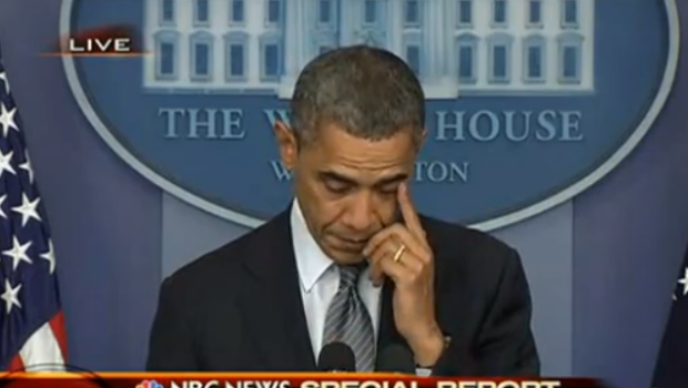 [Video] A Tearful President Obama, Addresses Connecticut School Shooting