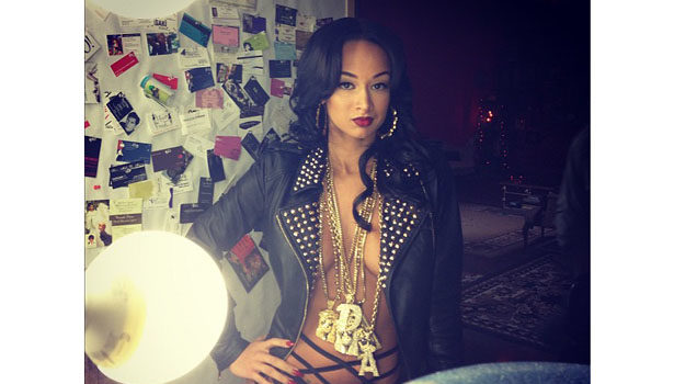 Stop & Stare : A Chest Naked Draya Michele Drips With Ice for 'Urban Ink'
