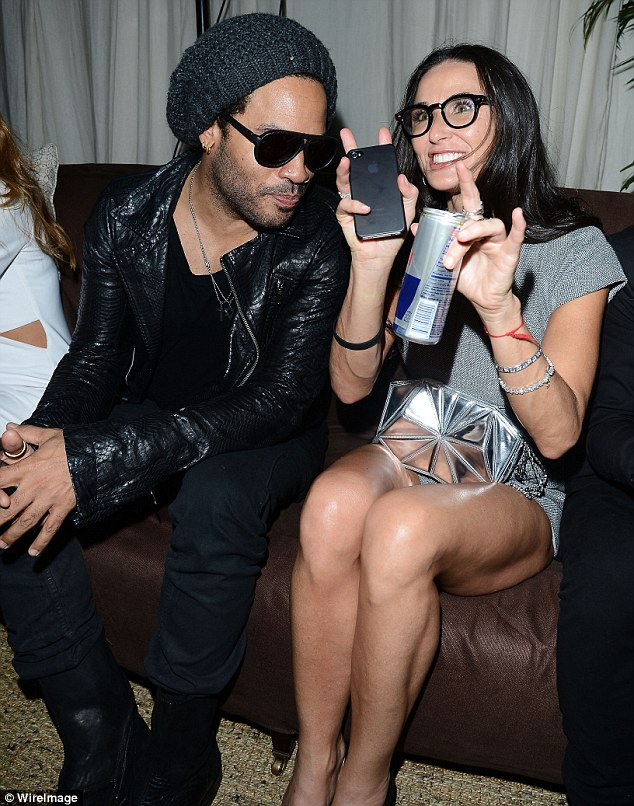 Demi Moore Busts Funky Dope Moves, Parties With Lenny ... Ashton Kutcher Net Worth