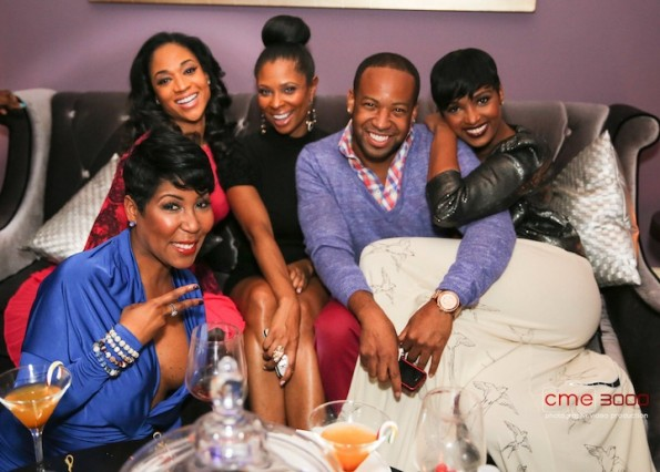 ebony steele-mimi faust-jennifer williams-producer-arianne davis-rhoa nene leakes-christmas party 2012-the jasmine brand