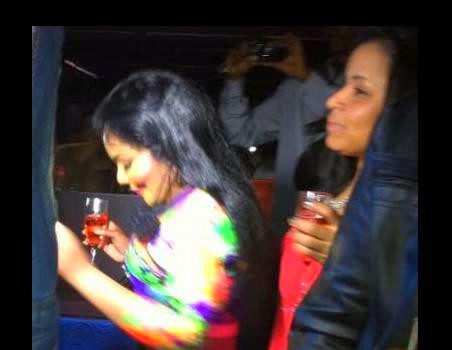 [Photos] Lil Kim Parties at Miami Night Club