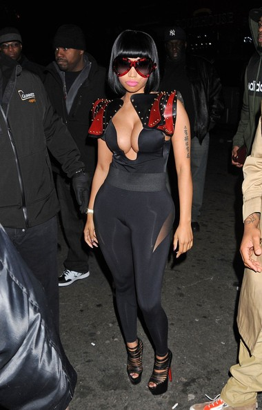 Nicki Minaj Serves Boobs & Catsuit Hotness for Christmas Concert