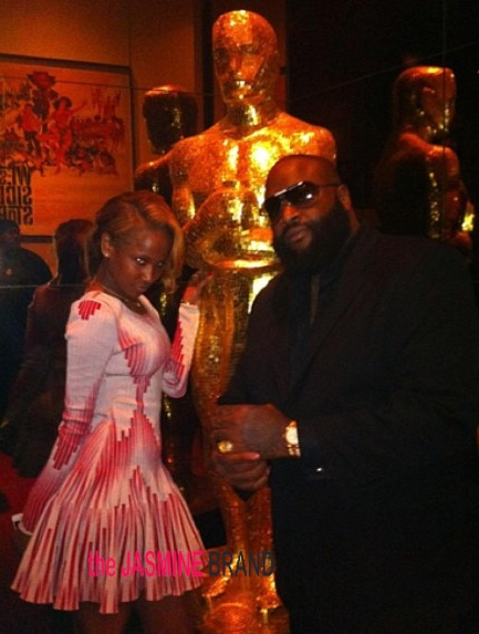 [Photos] Rick Ross & Girlfriend Attend 'Django' Movie Premiere