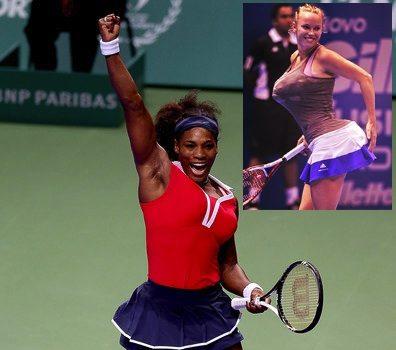 [Video] Tennis Player Pokes Fun of Serena Williams' Booty on Tennis Court