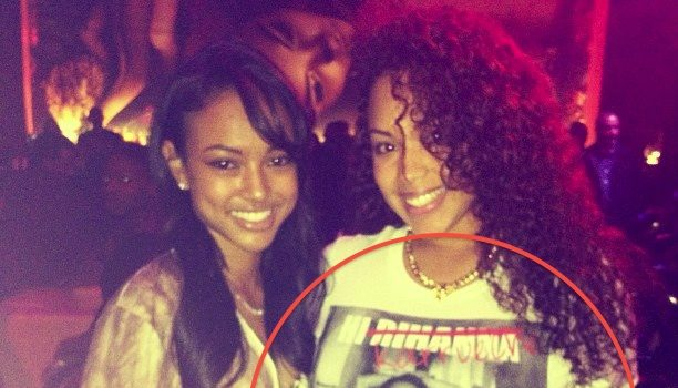 [UPDATED] Blatant Shade Or An Innocent Photo : Karrueche Poses With Anti Rihanna T Shirt
