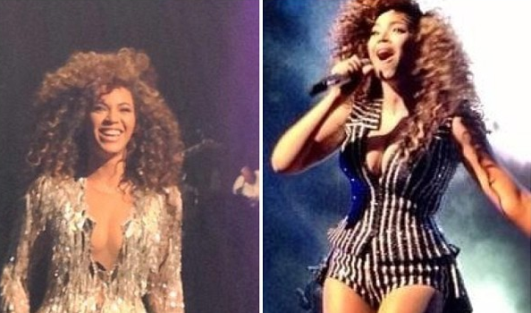 [Photos] Beyonce Goes Big & Natural for NYE Wynn Vegas Show