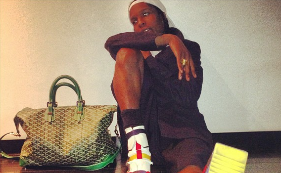 A$AP Rocky Shows off His Man Purse + Kim Kardashian Says She & Beyonce Are Friends