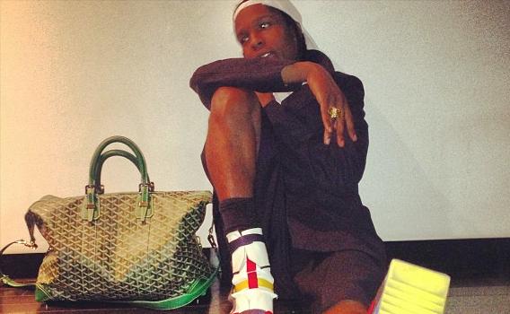 A$AP Rocky Shows off His Man Purse + Kim Kardashian Says She & Beyonce Are Friends