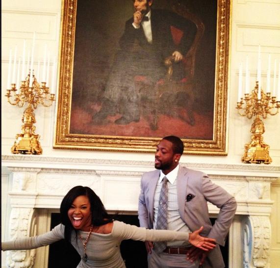 Gabrielle Union & D.Wade Get Urban in White House, Adrienne Bailon Almost Has Nip Slip + More Celeb Stalking