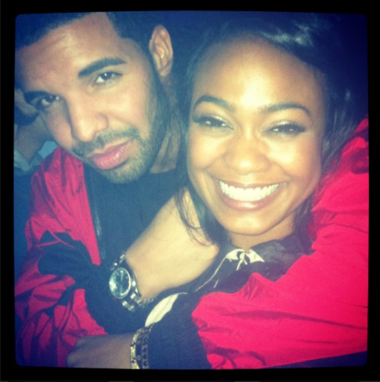 Drake Crashes Tatyana Ali's Birthday With Champagne & Roses