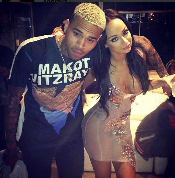 Rob Kardashian, Chris Brown, Karrueche Party for Reality Star Draya's B-Day