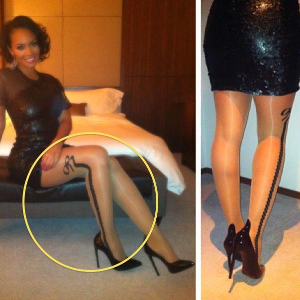 Panty Hose Porn: Cop Evelyn Lozada's Leg Game