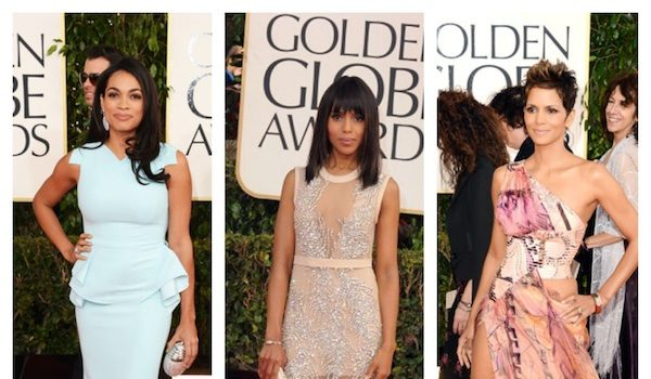 Ball-Gown-Overload: Halle Berry, J.Lo, Kerry Washington Hit the Golden Globe Awards Carpet