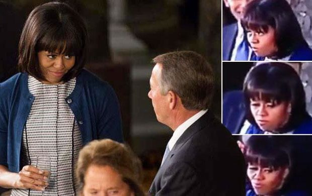 Ear Hustlin': The Real Reason Michelle Obama Rolled Her Eyes @ John Boehner