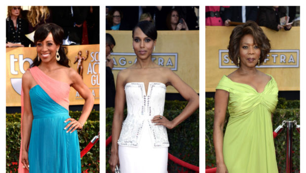 [Photos] Elegant Hair & Fashion Rule 2013 SAG Awards
