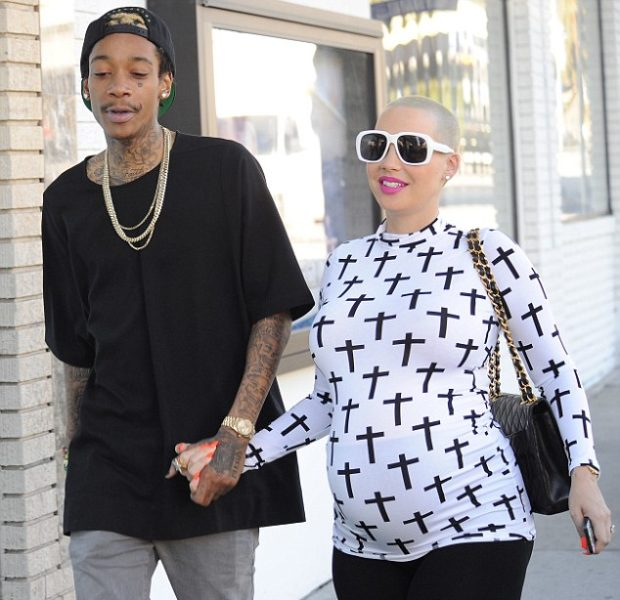 Amber Rose & Wiz Khalifa Deny Jumping the Broom: We are NOT Married!