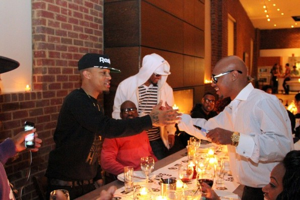 Bow Wow & Chris Kelly meet for first time3-so so def dinner-the jasmine brand