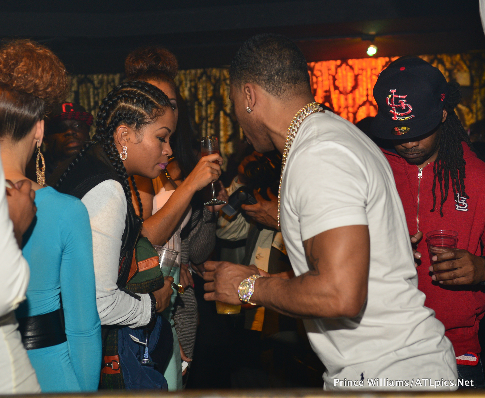 Nelly Officially Brings Out His New Girl La Shontae Heckard To Atl