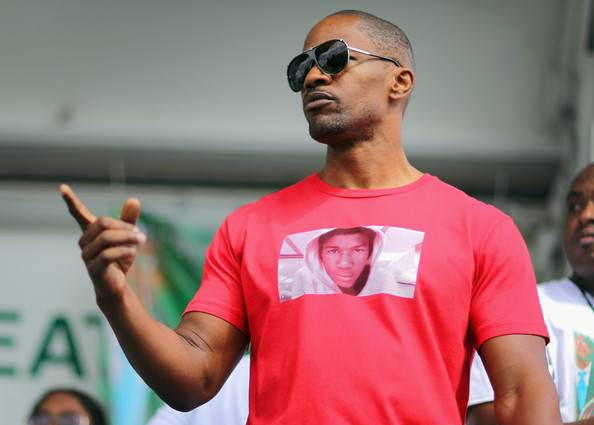 Jamie Foxx-Day of Remembrance Peace walk-treyvon martin-b-the jasmine brand