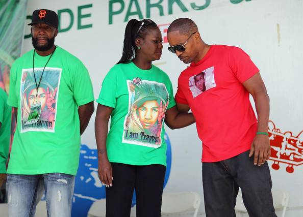 Jamie Foxx-Day of Remembrance Peace walk-treyvon martin-c-the jasmine brand