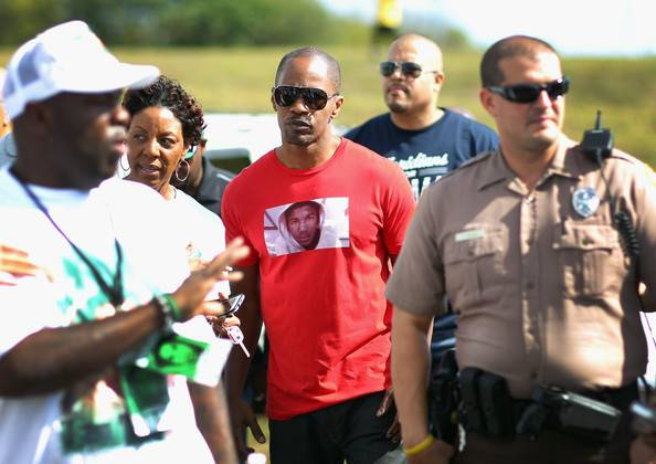 Jamie Foxx-Day of Remembrance Peace walk-treyvon martin-d-the jasmine brand