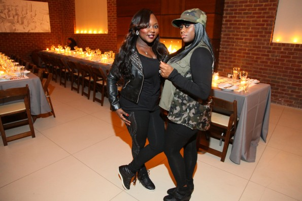 Latocha and Tamika Scott from Xscape-so so def dinner-the jasmine brand