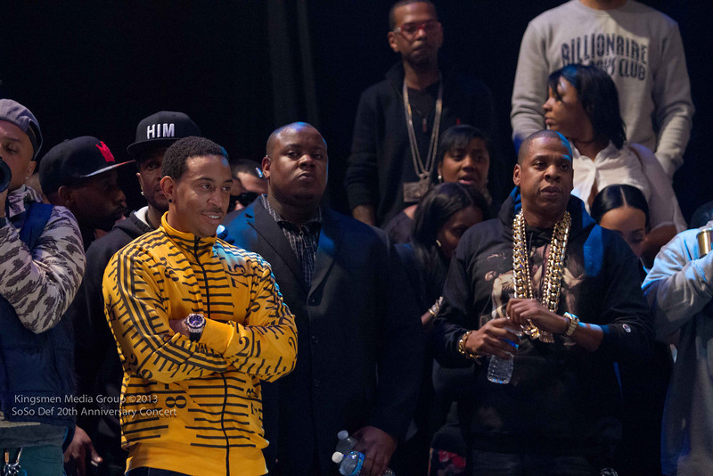Ludacris, Jay-Z on sidelines-so so def 20th anniversary concert-the jasmine brand