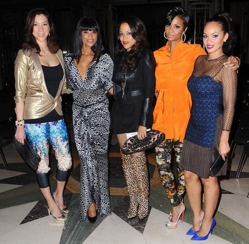 'Basketball Wives' stars attend London Fashion Week - Autumn/Winter 2013 - Ekaterina Kukhareva - Arrivals